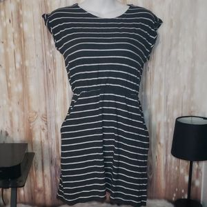3/20$ H&M Basic Romper Dress Striped